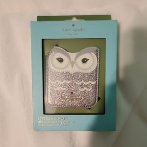 Kate Spade owl sticker pocket
